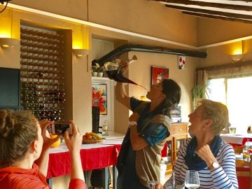 drinking wine catalan
