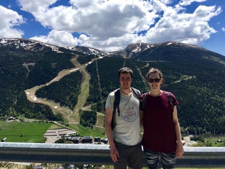 Kate Ian Soldeu hiking in andorra