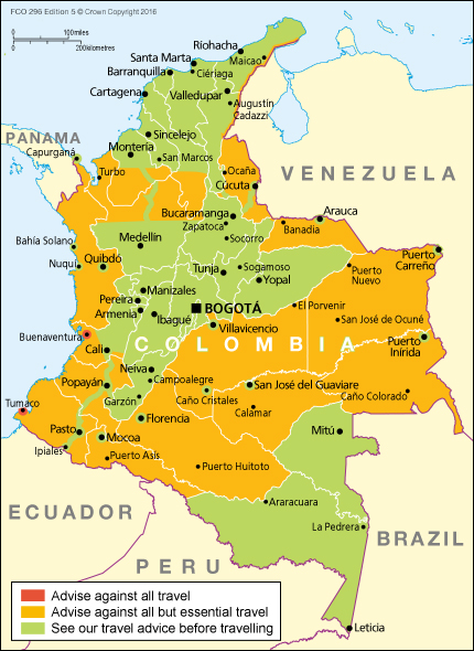 colombia fco map