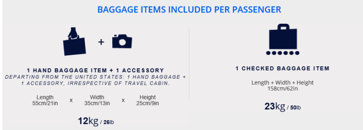 air france baggage luggage allowance