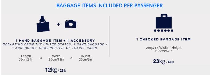 air france baggage luggage allowance