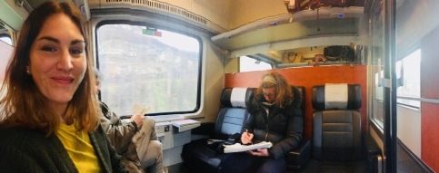 first class train cabin italy