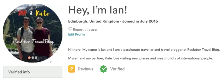 Verified Member Airbnb Review