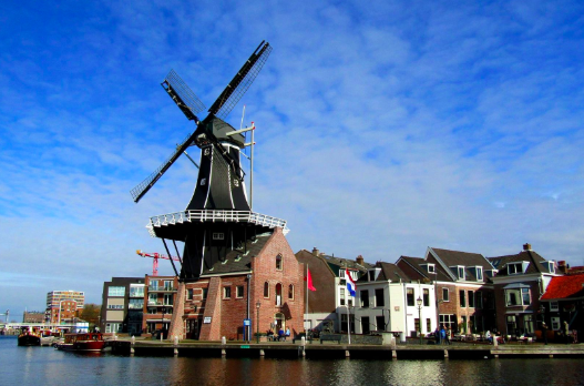 Windmill Harrlem Netherlands Holland