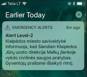 Emergency Alert Lithuania