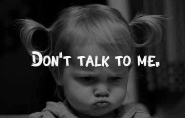 Don't talk to me meme
